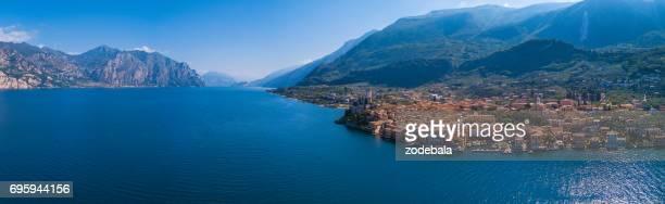 Luftaufnahme von Malcesine, Gardasee, Italien
