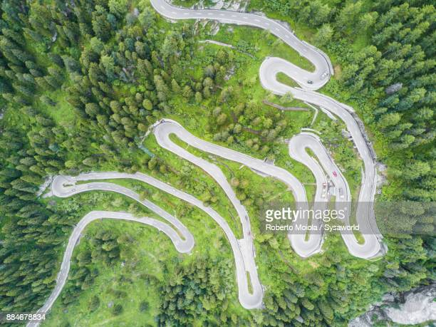 Aerial view of Maloja Pass, Switzerland