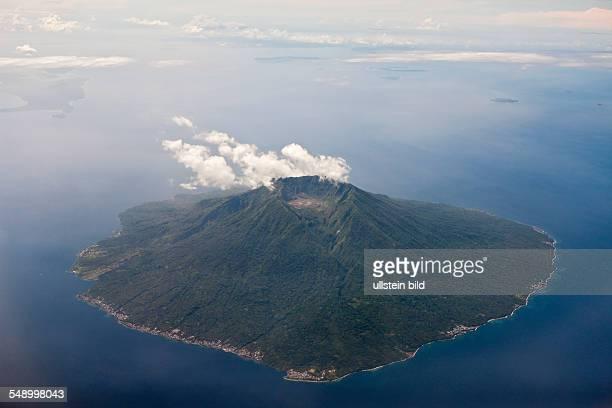 Aerial View of Manado Tua Volcano North Sulawesi Indonesia