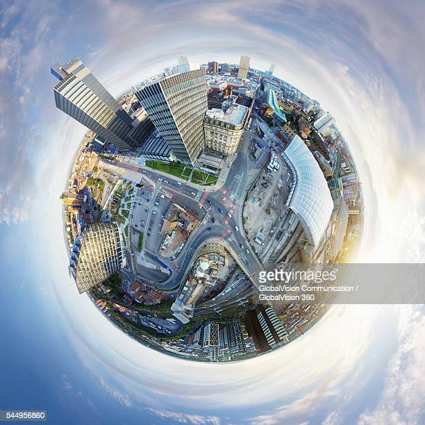 360° Aerial View of Manchester, UK