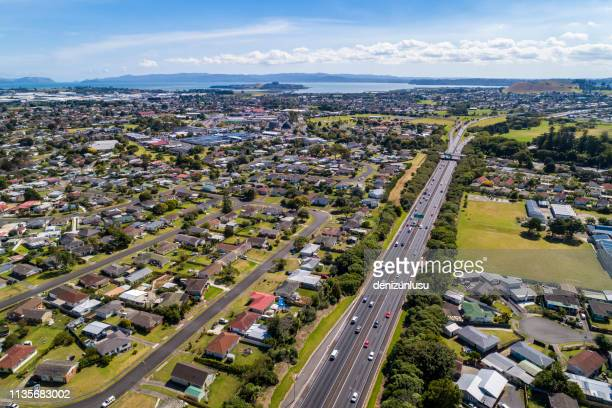 aerial view of mangere east - housing development stock pictures, royalty-free photos & images