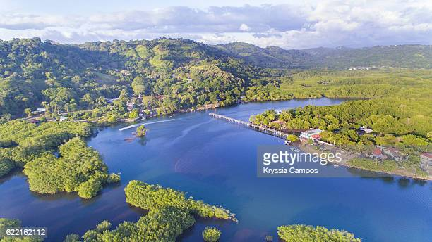Aerial view of Mangroves and Estuary in Costa Rica