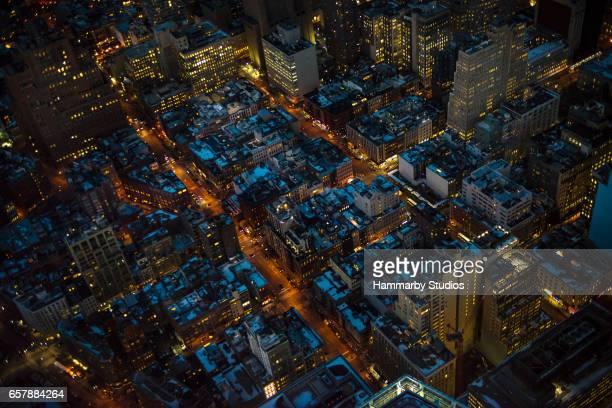 Luftaufnahme von Manhattan in New York City, USA