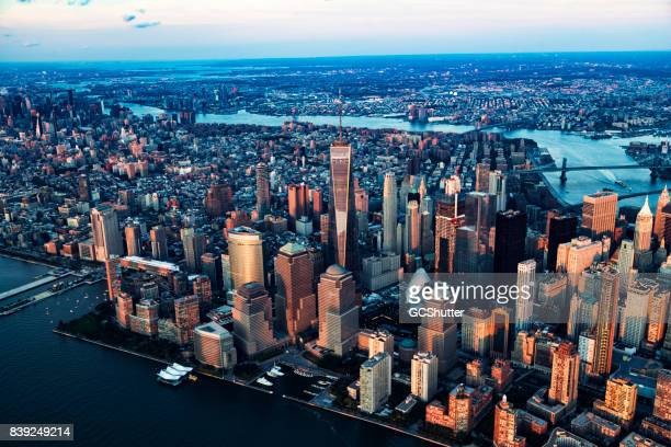Aerial view of Manhattan, New York, United States of America