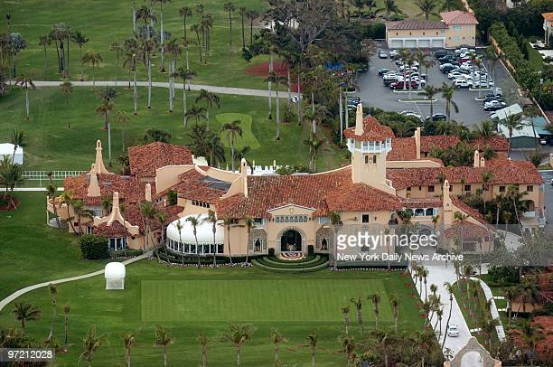 Aerial view of MaraLago the estate of Donald Trump in Palm Beach Fla