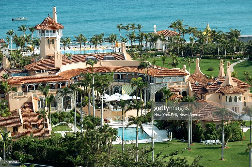 Aerial view of Mar-a-Lago, the oceanfront estate of billiona : News Photo