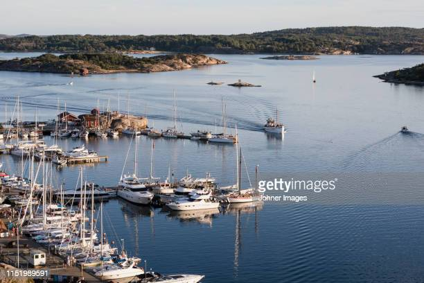 aerial view of marina - västra götaland county stock pictures, royalty-free photos & images