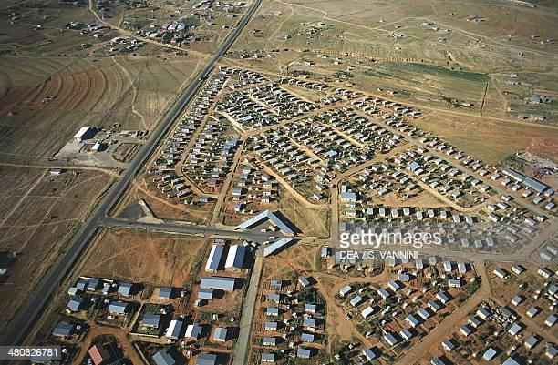 Aerial view of Maseru, Lesotho