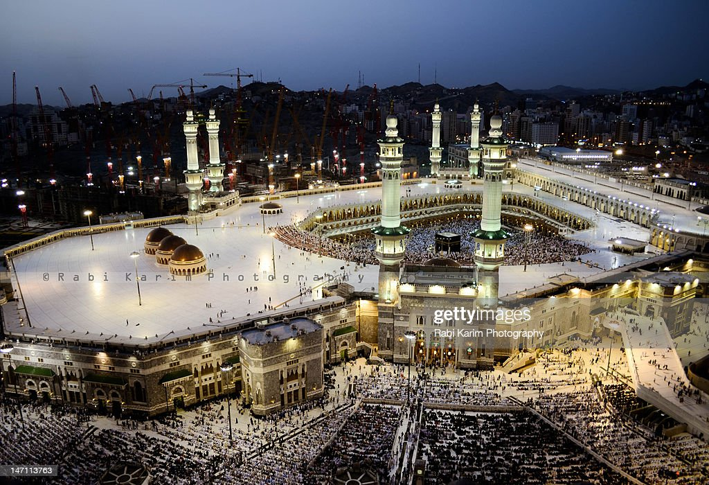 Aerial View Of Masjid Al Haram At Evening Stock Photo ...