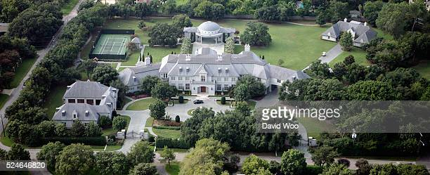 Aerial view of Mavericks owner Mark Cuban's mansion home