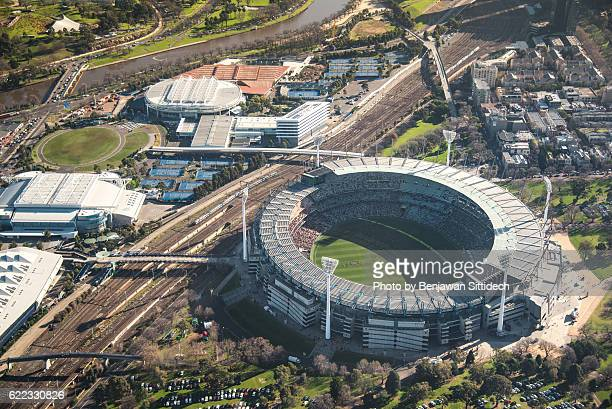 Aerial view of Melbourne Cricket Ground (MCG), Melbourne