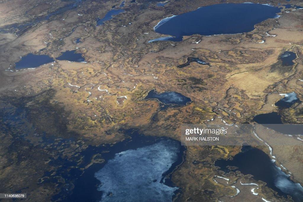 US-ALASKA-ENVIRONMENT-CLIMATE-EROSION : ニュース写真