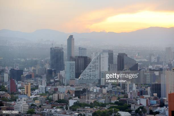 Aerial view of Mexico city on September 08 Mexico.