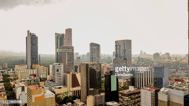 aerial view of mexico city - mexico city skyline stock pictures, royalty-free photos & images