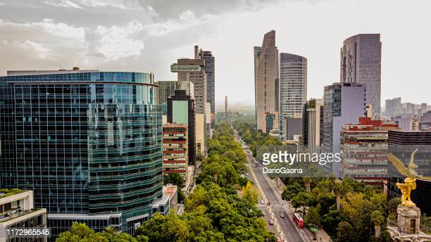 aerial view of mexico city - mexico city stock pictures, royalty-free photos & images