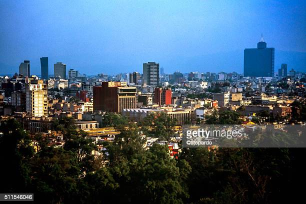 aerial view of mexico city - chapultepec park stock photos and pictures