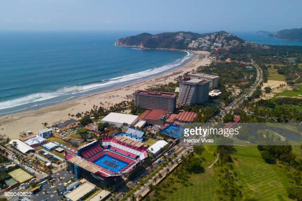 Aerial view of Mextenis Stadium during the Telcel Mexican Open 2018 at Mextenis Stadium on February 26 2018 in Acapulco Mexico