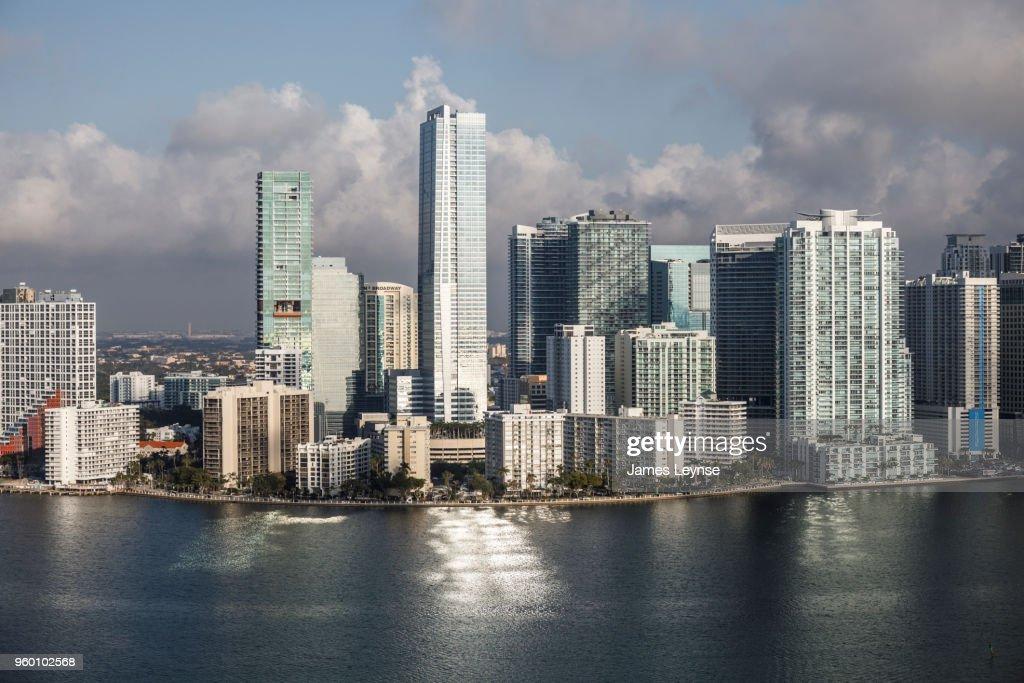 Aerial view of Miami Beach, Florida : Stock-Foto