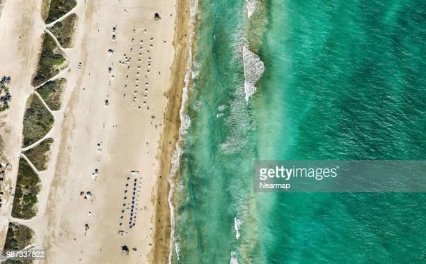 aerial view of miami beach. florida, usa - miami beach stock pictures, royalty-free photos & images