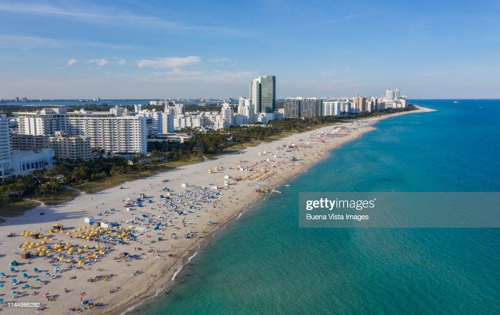 Aerial View Of Miami Beachs South Beach