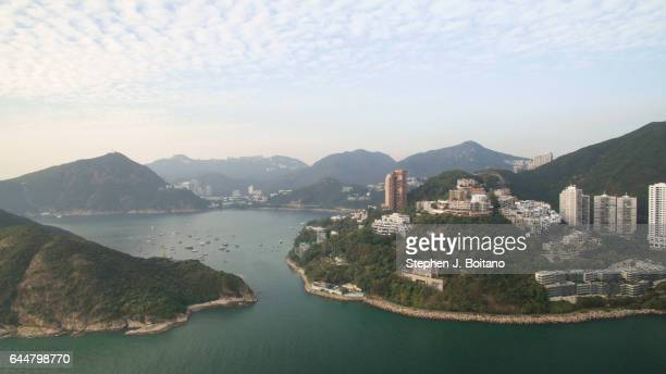 Aerial view of Middle Island from Repulse Bay located in the southern part of Hong Kong Island is the most spectacular bay in the region Its name...