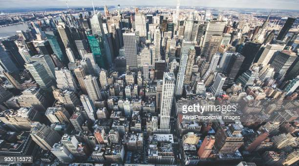 Aerial View of Midtown Manhattan, NYC