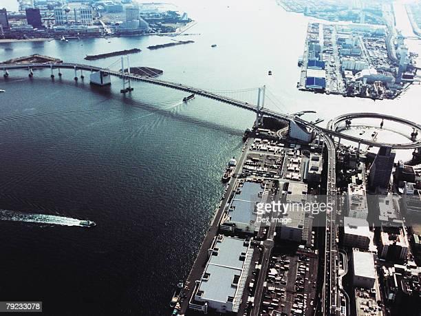 Aerial View of Minato-ku, Tokyo, Japan
