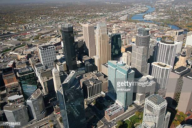 Aerial view of Minneapolis, Minnesota.