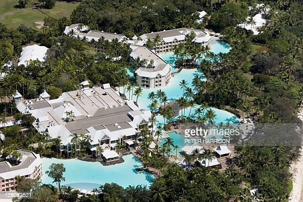 Aerial view of Mirage Resort, Port Douglas.