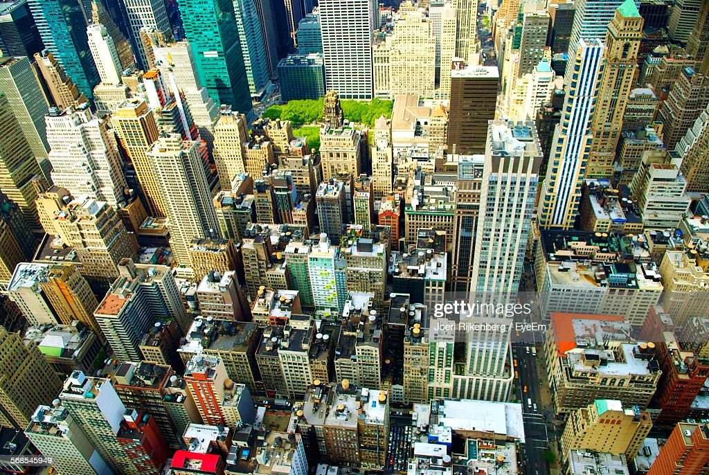 Aerial View Of Modern Cityscape : Stock Photo