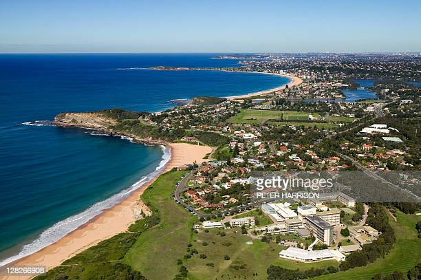 Aerial view of Mona Vale, New South Wales, Australia