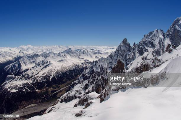 Aerial view of Mont Blanc, Courmayeur, Aosta Valley, Italy