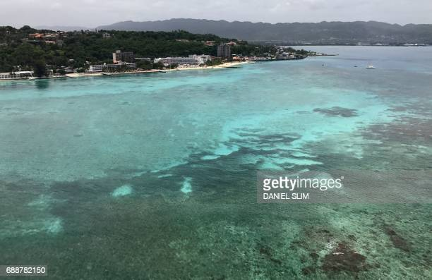 Aerial view of Montego Bay Jamaica on May 24 2017 / AFP PHOTO / Daniel SLIM