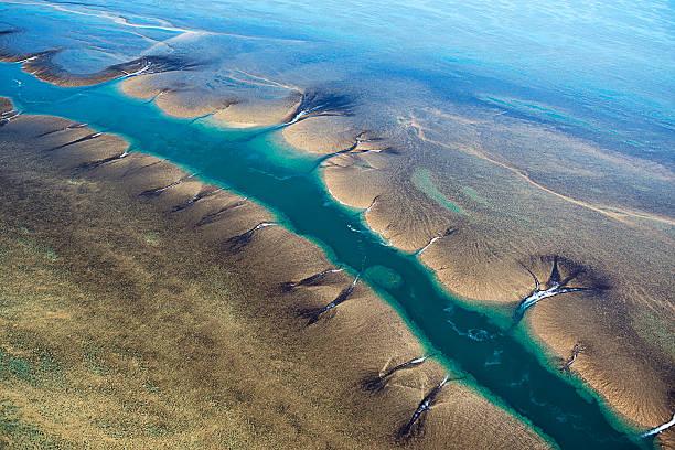Aerial View Of Montgomery Reef, Kimberley, Australia Wall Art
