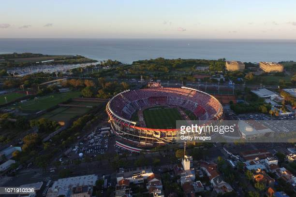 Aerial view of Monumetal Stadium before the second leg final match of Copa CONMEBOL Libertadores 2018 between River Plate and Boca Juniors on...