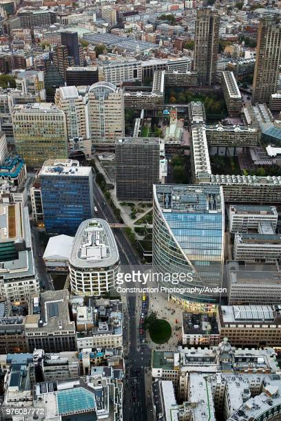 Aerial view of Moore House Barbican London