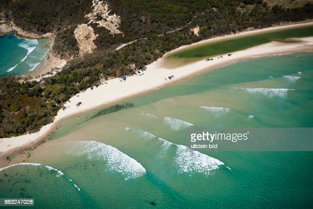 Aerial View of Moreton Island Brisbane Australia