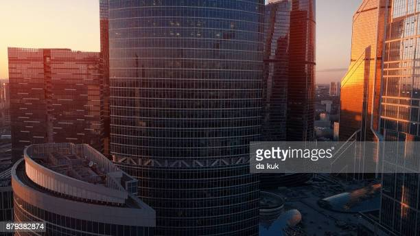 Luchtfoto van Moskou International City Business Center