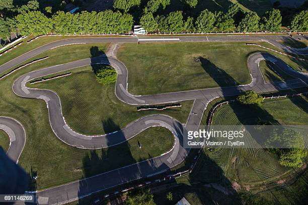 Aerial View Of Motor Racing Track