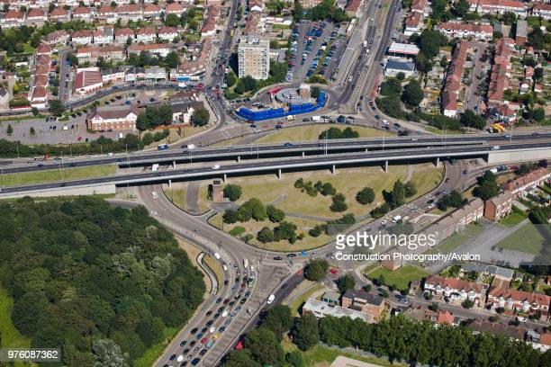 Aerial View of Motorway Road junction