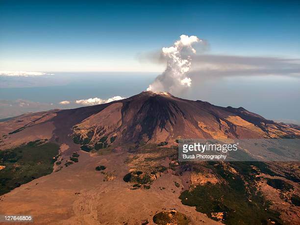 aerial view of mount etna, sicily - mt etna stock pictures, royalty-free photos & images