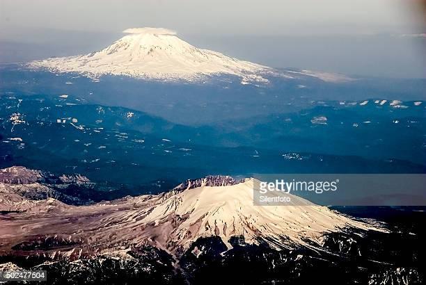 Aerial View of Mount St. Helens & Mount Adams