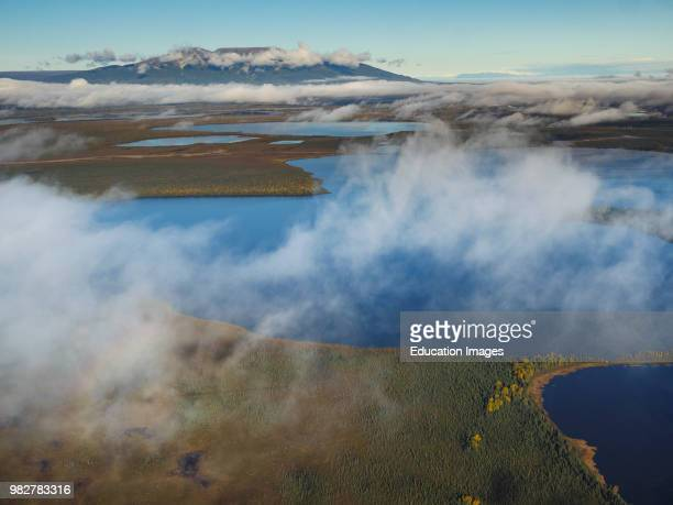 Aerial view of Mount Susitna. South Central Alaska. United States of America.
