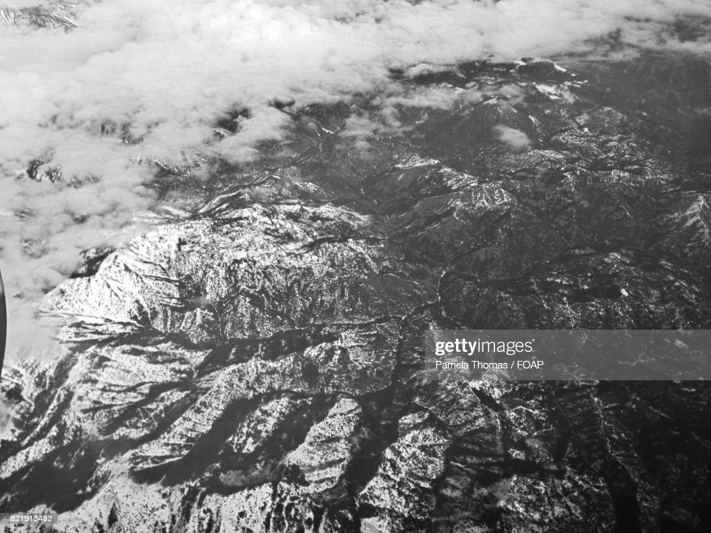 Aerial view of mountain : Stock Photo