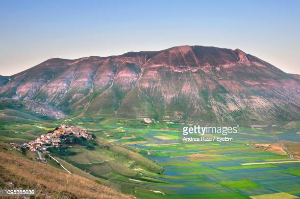 aerial view of mountain range - andrea rizzi stock pictures, royalty-free photos & images