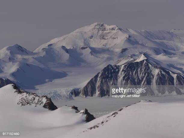 Aerial view of mountains and glaciers, Transantarctic mountains, Antarctica