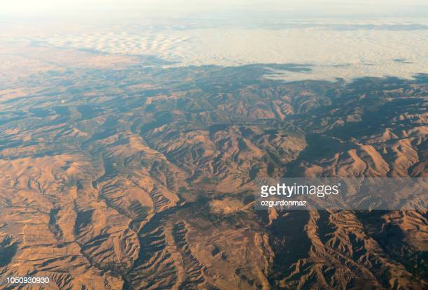 Aerial view of mountains in Turkey