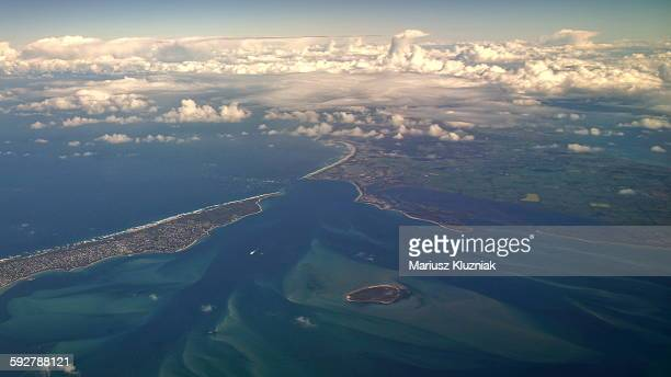 Aerial view of Mud islands and point Lonsdale