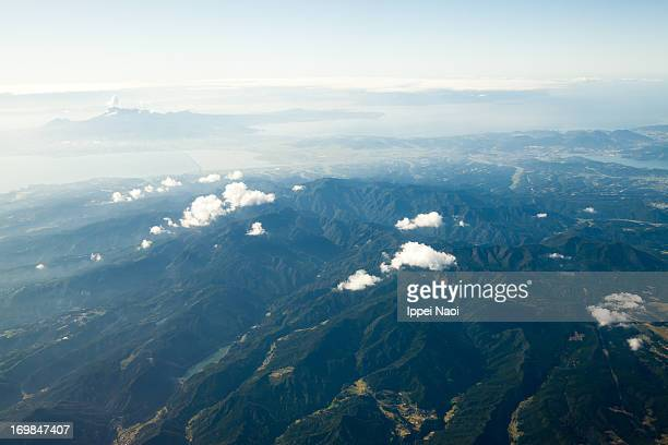 aerial view of nagasaki prefecture - ippei naoi stock photos and pictures