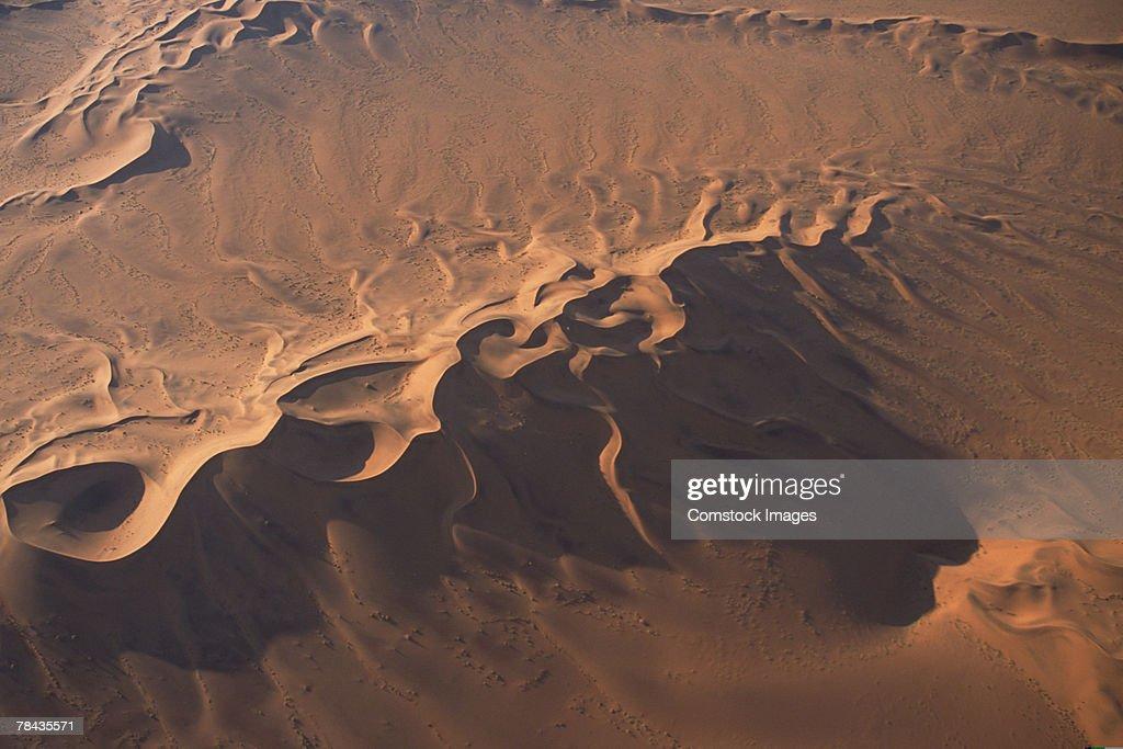 Aerial view of Namib Desert , Namibia , Africa : Foto de stock